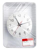 Wrapped plastic food container with clock