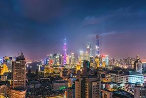 Shanghai Night Skyline