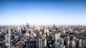 panorama de la ciudad de shanghai foto