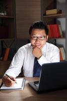 un, hommes affaires asiatiques, portrait