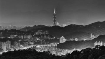 Skyline of Taipei city