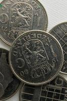 vintage dutch gulden coins photo