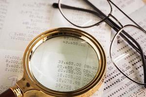 Close up of saving account Passbook photo