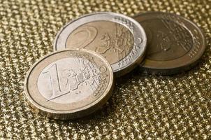 One euro coin photo