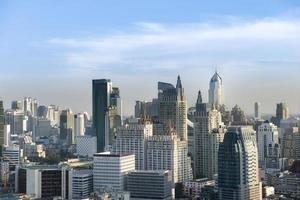 Paisaje urbano de Bangkok en la luz del atardecer, Tailandia foto