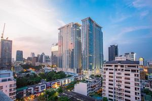 Aerial view with modern building in Thailand. photo
