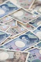 billetes de moneda japonesa, yen japonés foto