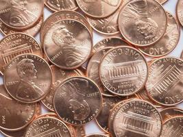 Dollar coins background