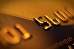 Número de tarjeta de crédito, macro shot. foto