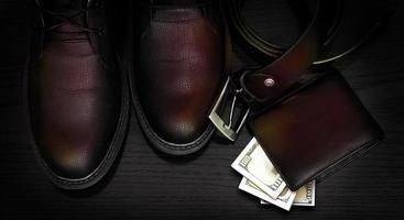 Belt and shoes. Business look. photo