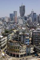 vista de la ciudad de macao foto