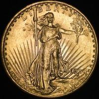 United States Saint Gauden's Gold Coin (Obverse) photo