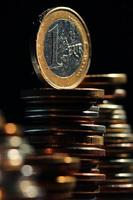 stacks of coins concept dollars euro dollar exchange rate economics