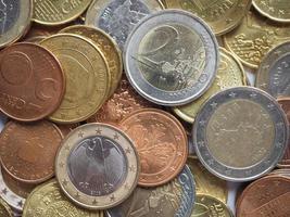 fundo de moedas de euro