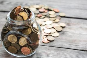 Full Coins in bottle photo