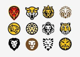 Lion and tiger head collection