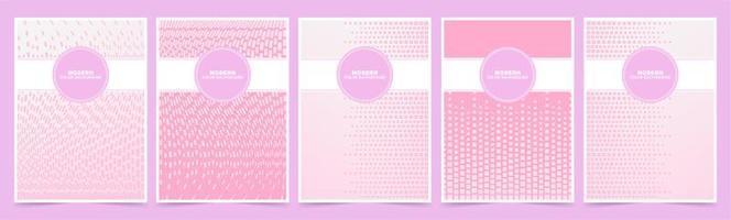 plantillas de portada de patrón de cubo rosa y blanco vector