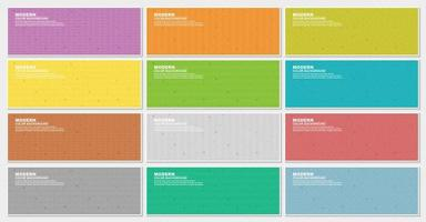 Colorful banner set with multiple pattern styles