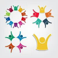 Colorful People Symbols vector