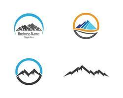 conjunto de logotipo de montaña circular