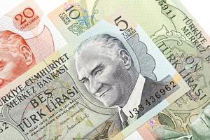 antigua lira turca, detalle macro foto