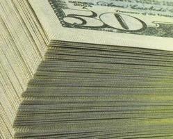 billetes de dólares foto