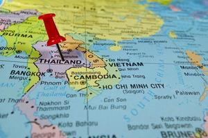 Thailand map photo