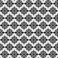 Black and white fleur de lis ornament spade geometric background wallpaper