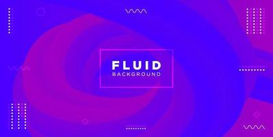 Blue and Purple Abstract Fluid Shapes Background
