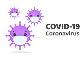 COVID-19 Virus Cells Wearing Masks