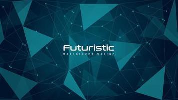 fundo abstrato tecnologia futurista poli