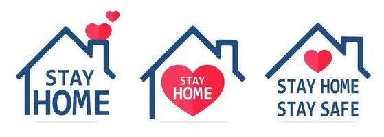 Stay Home Line Icon House
