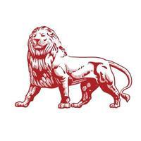 Line Art Lion Design vector
