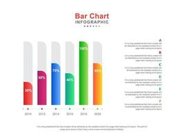 Colorful Bar Chart Template With Numbers