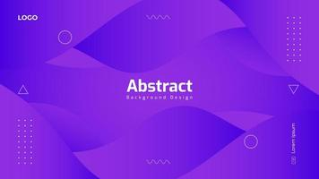 Gradient Purple Abstract Background Design vector