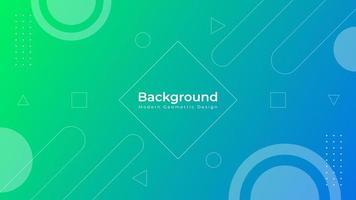 Modern Blue Green Gradient Geometric Background Design vector