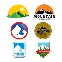 colección de logotipos de montaña