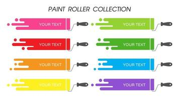 Colorful Paint Roller Set vector
