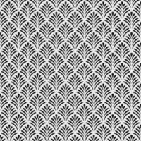 Tropical leaf ornament geometric seamless pattern
