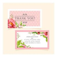 Pretty Floral ''Thank You'' Card vector