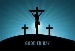 religioso pascua cristo sobre fondo cruzado vector