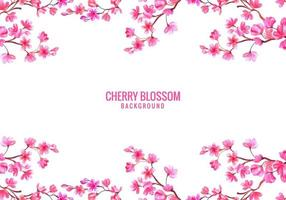 Pink Cherry Blossom Background