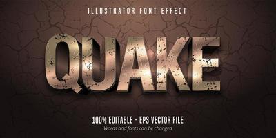 terremoto efecto de fuente editable estilo 3d