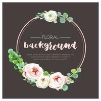Soft Pink Round Rose Wreath Background