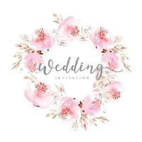 guirlanda de casamento floral rosa vetor