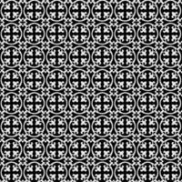 Circular fleur seamless pattern vector
