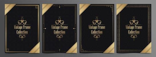 Vintage frame collection with patterns and golden details