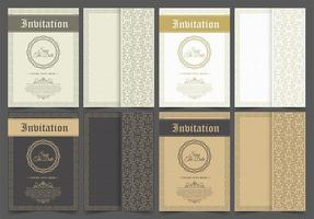 Vintage patterned invitation set