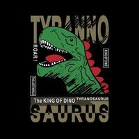 Tyrannosaurus head and slogan design for kids fashion