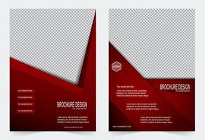 Red sharp angle design cover template set